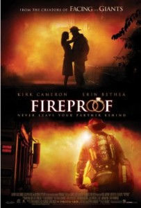 Fireproof, a movie about the trials of love and marriage and how to overcome them.