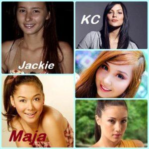 (clockwise) Jackie Rice, KC Concepcion, Alodia Gosiengfiao, Solenn Heusaff, Maja Salvador.