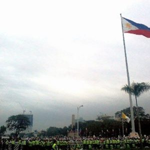 Filipinos gather at Luneta Park in Manila for Pope Francis' Concluding Mass on January 18, 2015.