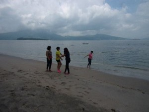 At Subic, Zambales a day trip with friends gives you the freedom of walking along the shores of resorts even during ocular visits. (Source: mctdavid)