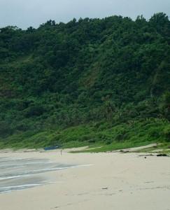 Beach in Pagudpud, Ilocos Norte - sky, sea and lush greenery.