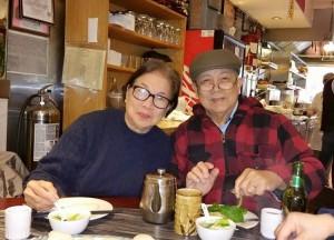 Tatay Jobo Elizes with his wife.