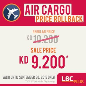 LBC Express WLL gives a price roll back..hurry!