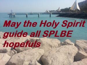 Prayer for all SPLBE 2015 hopefuls.