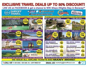 Shroff Travel discounts up to 50% for domestic and international tour packages. Avail and book now!
