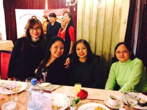 Together with lovely ladies inside and out, Assistant Labor Attache Mam Lily Pearl, Mam Gay and Mam Elizabeth of POLO OWWA Kuwait.