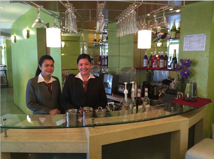 Pretty and friendly staff of Satchi Ceasar Restaurant in Fahaheel.