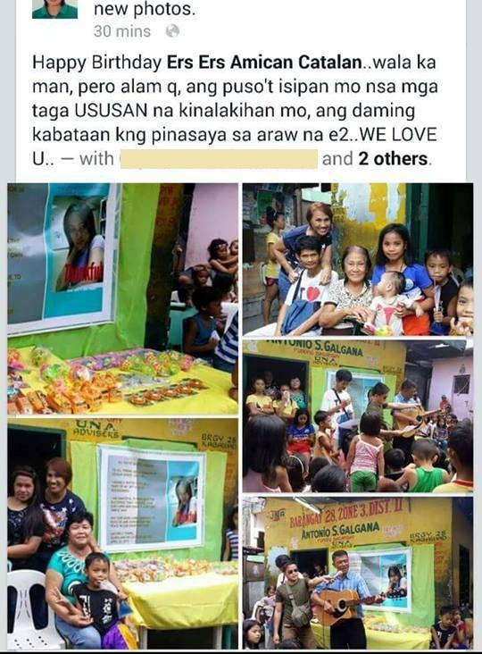 Grateful that the Lord has given her a stale job here in Kuwait, Ms. Almira gives back to her hometown in Caloocan.