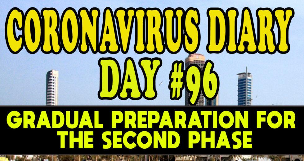 CORONAVIRUS DIARIES: DAY #96 – Gradual Preparation for the Second-Phase