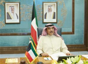 Prime Minister Sheikh Sabah Khaled Al-Hamad-Sabah heads the cabinet members' meeting.