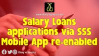 Salary loans applications via SSS Mobile App re-enabled