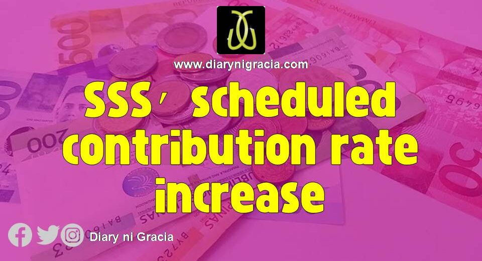 SSS' scheduled contribution rate increase