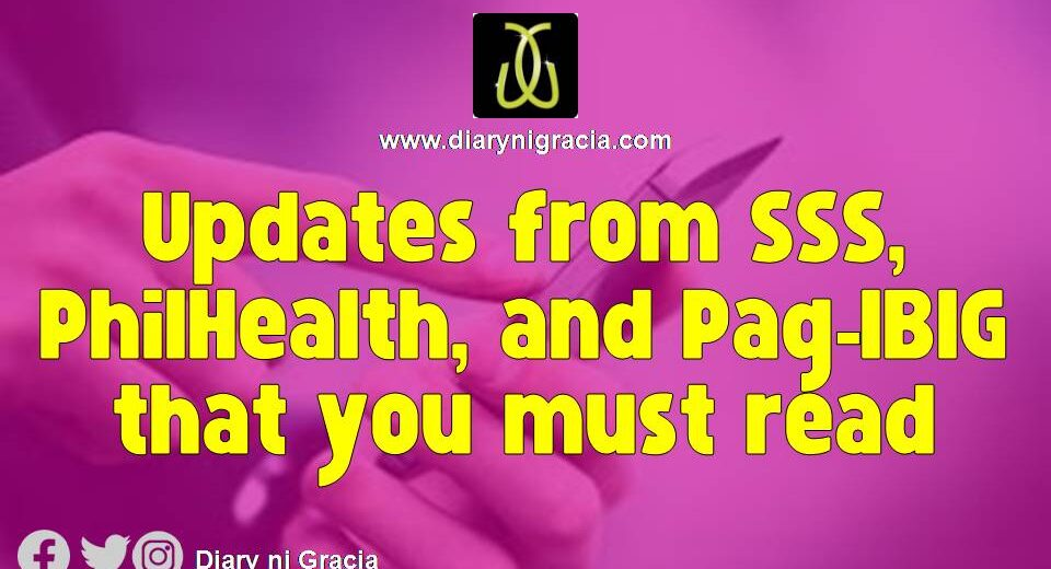 Updates from SSS, PhilHealth, and Pag-IBIG that you must read
