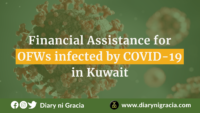 Financial Assistance for OFWs infected by COVID-19 in Kuwait | Diary ni Gracia