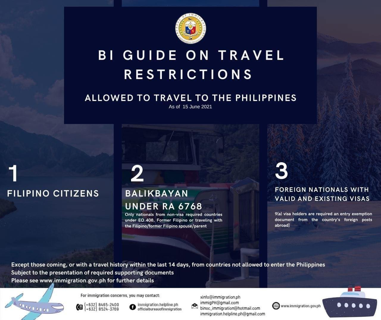 Philippine Bureau of Immigration releases Guide on Travel Restrictions amid Pandemic